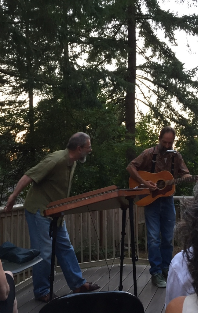 House Concerts are such serious business. Mick Doherty (L), Kevin Shay Johnson (R)